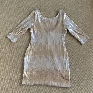 Arden B Shimmering Gold Dress